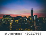 cityscape of santiago de chile...   Shutterstock . vector #490217989