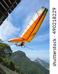 Hangglider Taking Off From The...