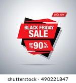 black friday sale banner   Shutterstock .eps vector #490221847
