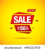 sale label design | Shutterstock .eps vector #490221925
