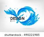 sign water splashing  design... | Shutterstock .eps vector #490221985