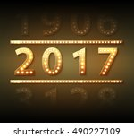 the 2017 new year symbol with... | Shutterstock .eps vector #490227109