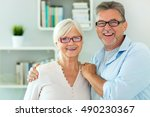 loving senior couple   | Shutterstock . vector #490230367