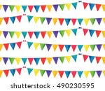 seamless pattern with... | Shutterstock .eps vector #490230595