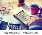 goals business brand launch... | Shutterstock . vector #490234885