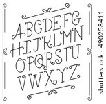 outlined alphabet set   vector... | Shutterstock .eps vector #490258411