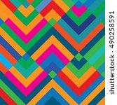 vector pattern. geometric color ... | Shutterstock .eps vector #490258591