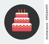 flat vector icon   illustration ... | Shutterstock .eps vector #490264495