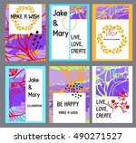 set of creative  colorful... | Shutterstock .eps vector #490271527