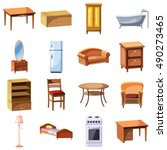 furniture and household...   Shutterstock .eps vector #490273465