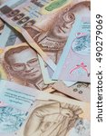 money thai baht  | Shutterstock . vector #490279069