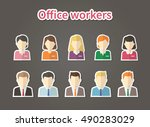 avatar flat design icons. | Shutterstock .eps vector #490283029