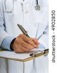 doctor or physician writing on... | Shutterstock . vector #4902850