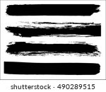 set of grunge lines. isolated... | Shutterstock .eps vector #490289515