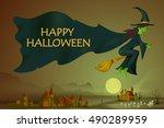 vector illustration of happy...   Shutterstock .eps vector #490289959