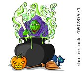 vector illustration of happy...   Shutterstock .eps vector #490289971