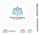 book logo design vector for... | Shutterstock .eps vector #490292989