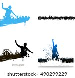 banners for sporting events and ... | Shutterstock .eps vector #490299229