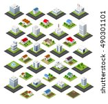 isometric set of icons | Shutterstock . vector #490301101