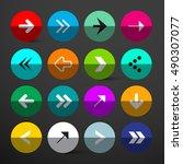 arrow buttons set. colorful... | Shutterstock . vector #490307077