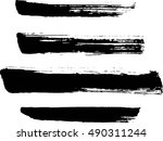 set of grunge lines. isolated... | Shutterstock .eps vector #490311244