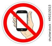 no mobile phones vector icon....