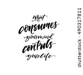what consumes your mind... | Shutterstock .eps vector #490317811