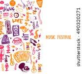 music concert vector poster... | Shutterstock .eps vector #490320271