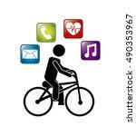 wearable technology... | Shutterstock .eps vector #490353967