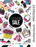 fashion sale and special offer... | Shutterstock .eps vector #490356415