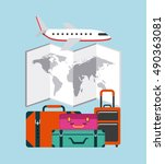 travel vacations set collection ... | Shutterstock .eps vector #490363081