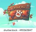 feed the fox vector start... | Shutterstock .eps vector #490365847