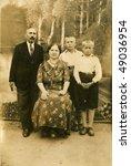 Family photo (circa 1930) - stock photo