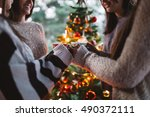 friend celebrating together and ... | Shutterstock . vector #490372111