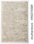 Handwritten Text. Vintage Pape...