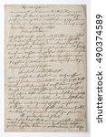 Handwritten Text. Vintage Pape...