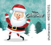 cheerful santa claus merry...   Shutterstock .eps vector #490376551