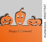 halloween background. ... | Shutterstock . vector #490377547