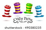 crazy party colorful striped... | Shutterstock .eps vector #490380235