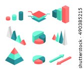 isometric flat 3d infographic... | Shutterstock . vector #490385215