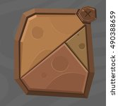 cartoon stone game assets set ...