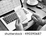 e mail contact message inbox... | Shutterstock . vector #490390687