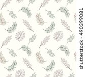 seamless leaves pattern on a...   Shutterstock .eps vector #490399081