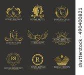 luxury logo collection design... | Shutterstock .eps vector #490400821