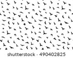 isolated seamless flying bats... | Shutterstock .eps vector #490402825