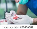 dental prosthesis  dentures ...   Shutterstock . vector #490406887