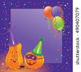 halloween party   Shutterstock .eps vector #490407079