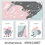 collection universal cards for... | Shutterstock .eps vector #490412887