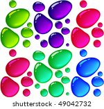 color transparent drops. vector. | Shutterstock .eps vector #49042732