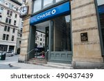 Small photo of New York, September 28, 2016: A retail Chase bank location in Manhattan.